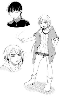 COMIC阿吽10月号掲載「拾ワ恋慕」初期キャラクター表